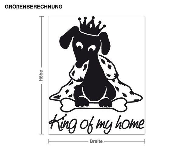 Wandtattoo King of my home