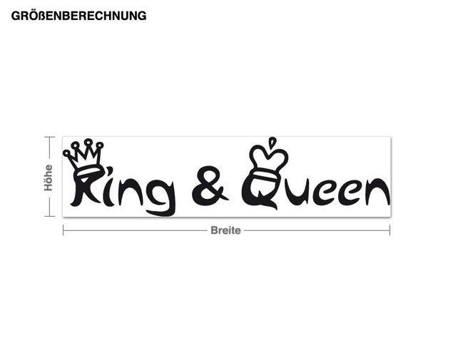 Wandtattoo King & Queen