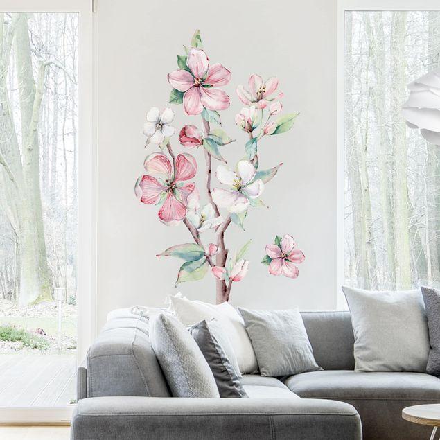 Wandtattoo - Kirschblütenzweig Aquarell