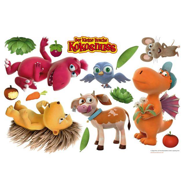 Wandtattoo - Kleiner Drache Kokosnuss - Tiere