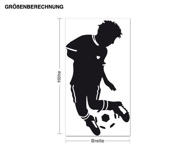 Wandtattoo Kleiner Fußballer