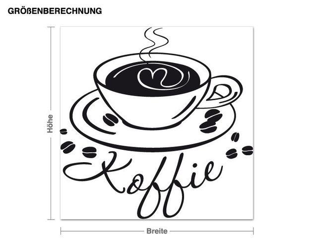 Wandtattoo Koffie