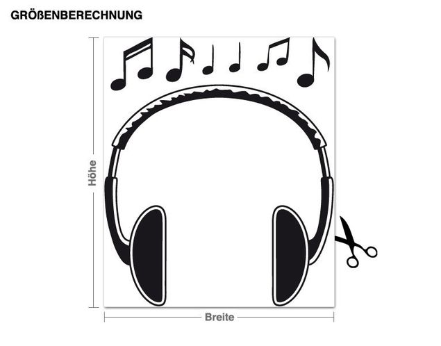 Wandtattoo Kopfhörer