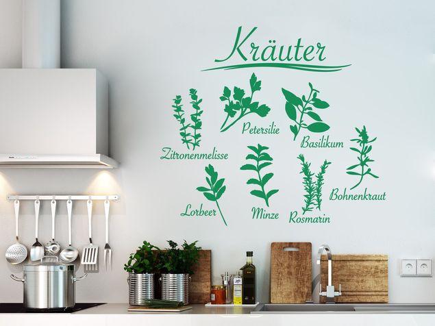 Wandtattoo Kräuter
