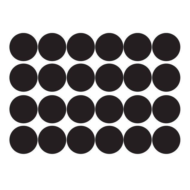 Wandtattoo Punkte - 24x Wandtattoo Kreis Konfetti - Wandsticker Set Einfarbig