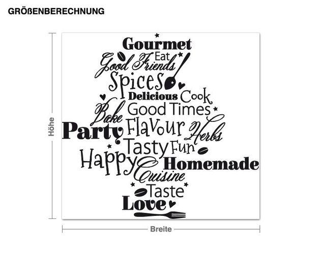 Wandtattoo Küchenworte