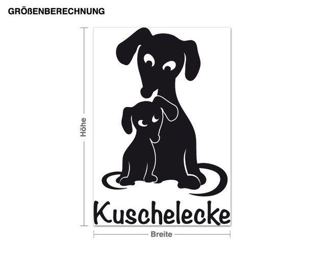 Wandtattoo Kuschelecke Hund