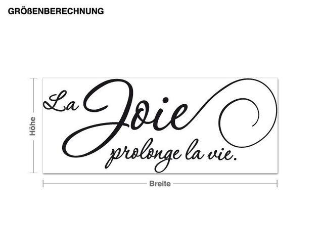 Wandtattoo La joie