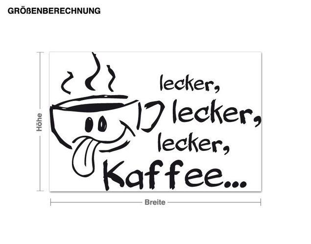 Wandtattoo lecker Kaffee
