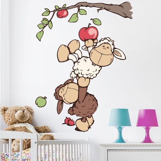Wandtattoo Lenny und Jolly Mäh pflücken Äpfel
