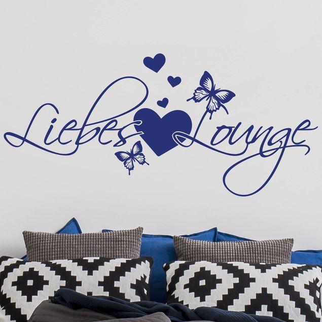 Wandtattoo Liebes Lounge