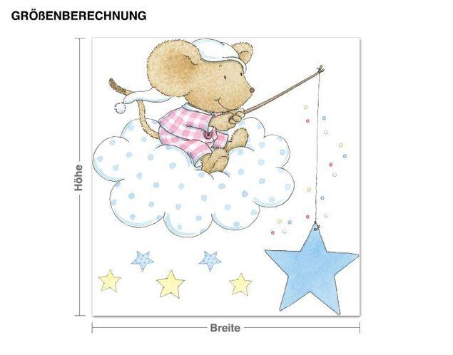 Wandtattoo Lillebi angelt Sterne