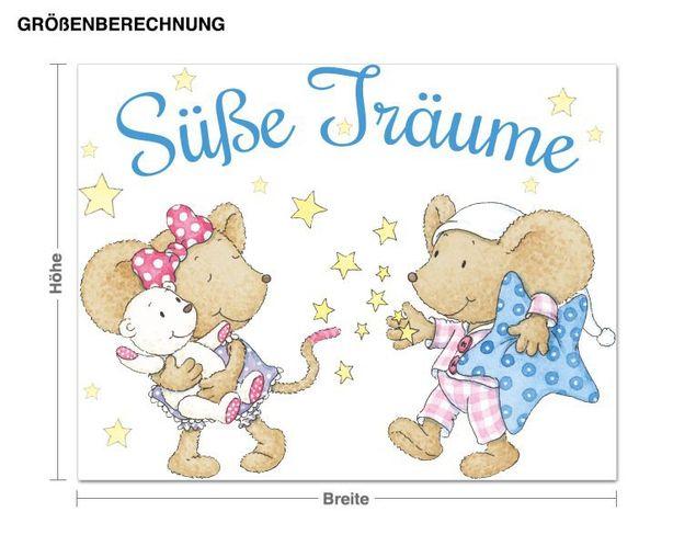 Wandtattoo Lillebi und Kikibell Süße Träume