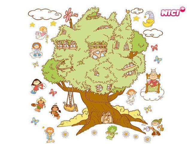 Wandtattoo Little Wingels Baum Immerda