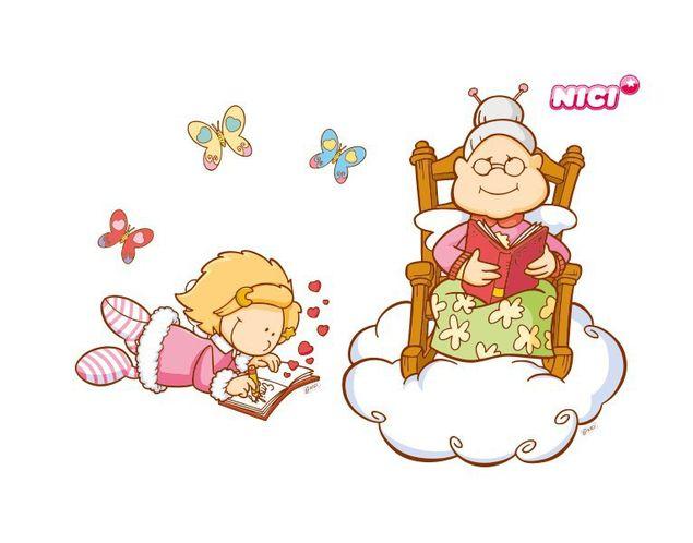 Wandtattoo Little Wingels Nana & Emily