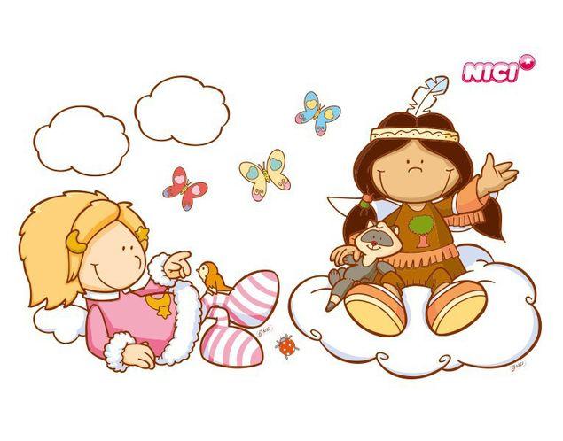 Wandtattoo Little Wingels Petro & Emily