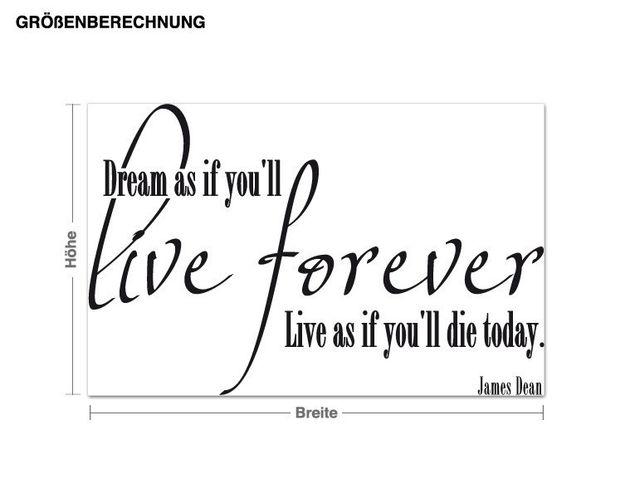 Wandtattoo Live forever