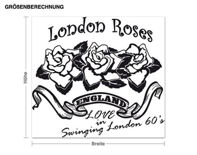 Wandtattoo London Roses