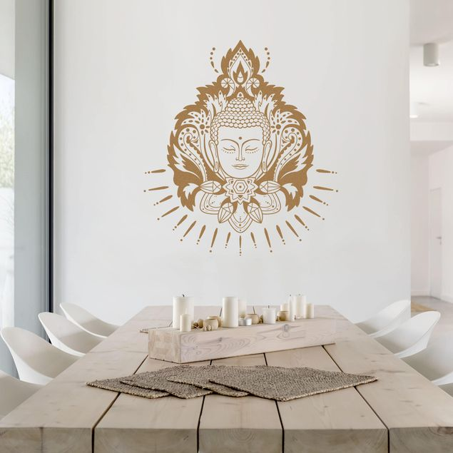 Wandtattoo - Lotus mit Buddha