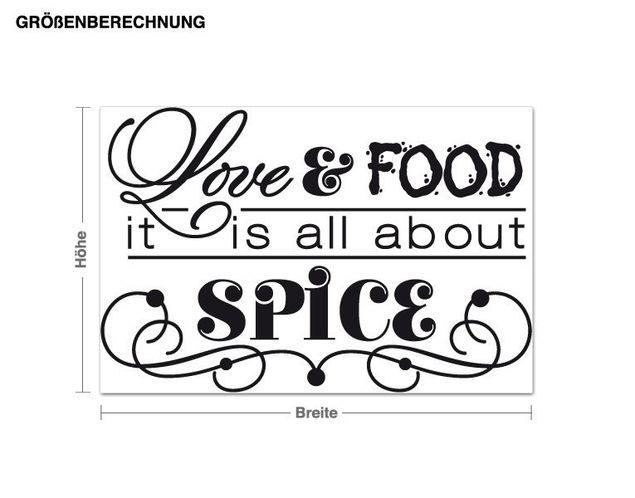 Wandtattoo Love and Food