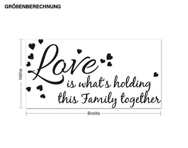 Wandtattoo Love holds together