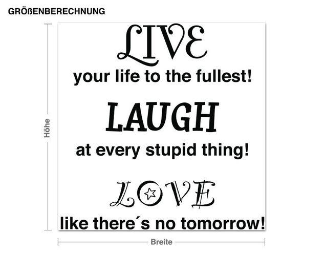Wandtattoo Love Laugh Live
