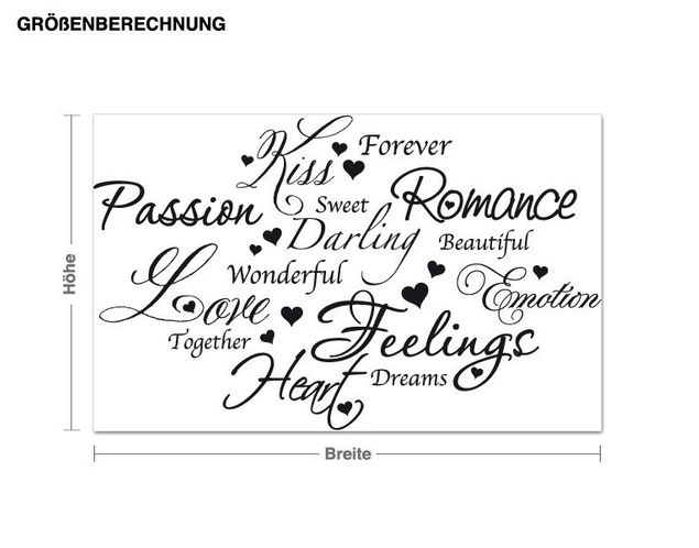Wandtattoo Love Romance