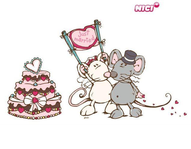 Wandtattoo Mäusepärchen mit Torte