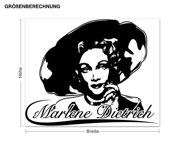 Wandtattoo Marlene Dietrich