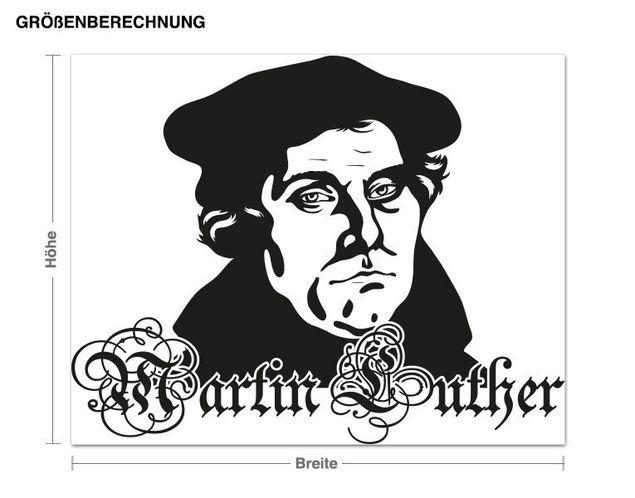 Wandtattoo Martin Luther