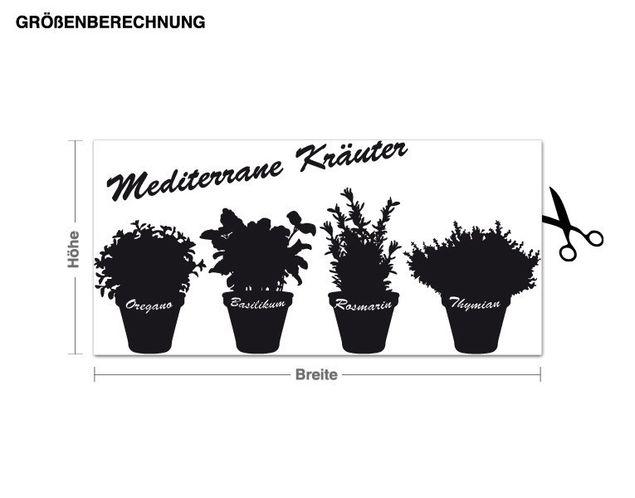 Wandtattoo Mediterrane Kräuter