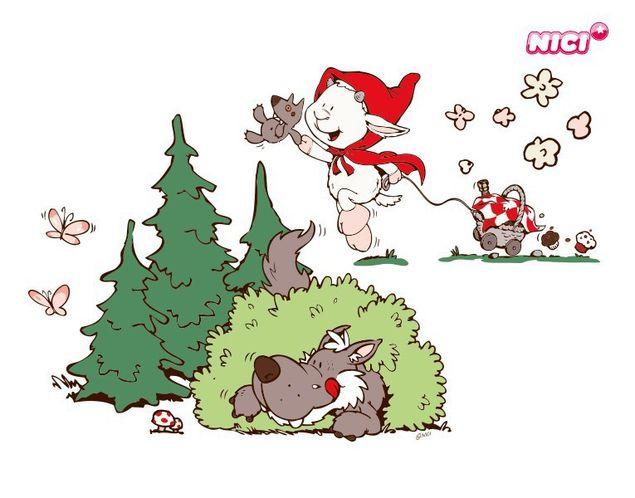 Wandtattoo Melly & Big Wolf