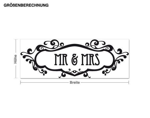 Wandtattoo Mr & Mrs