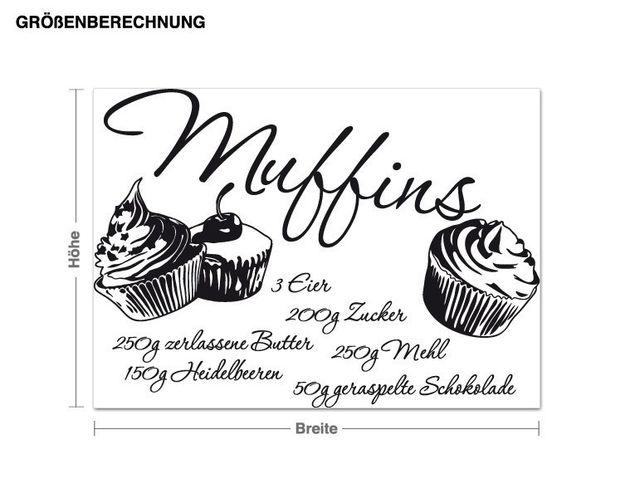 Wandtattoo Muffins