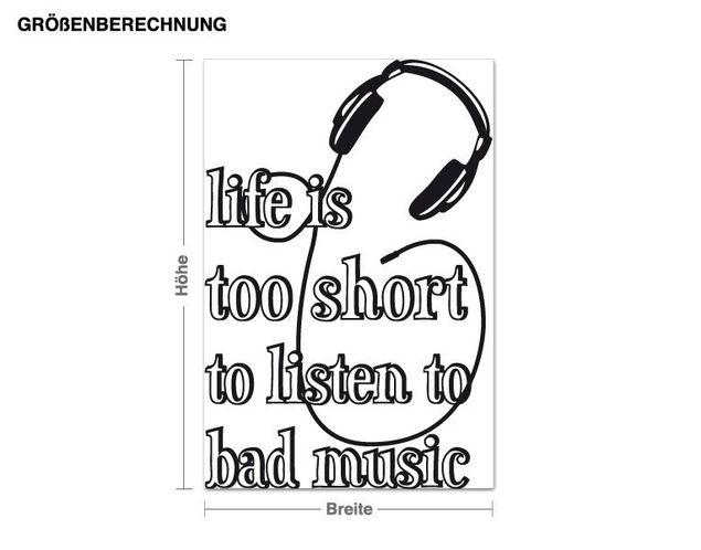 Wandtattoo Music