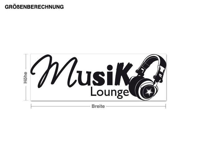 Wandtattoo Musik Lounge Modern