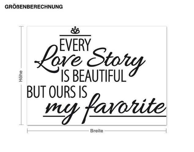 Wandtattoo My favorite Love Story