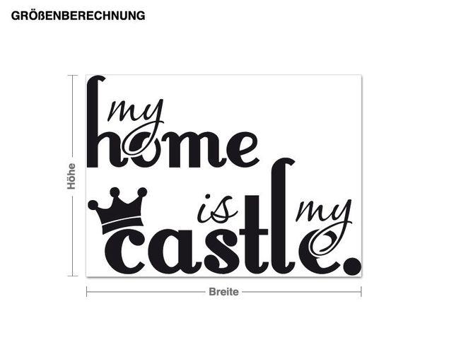 Wandtattoo My Home is...