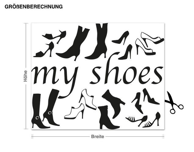 Wandtattoo My Shoes