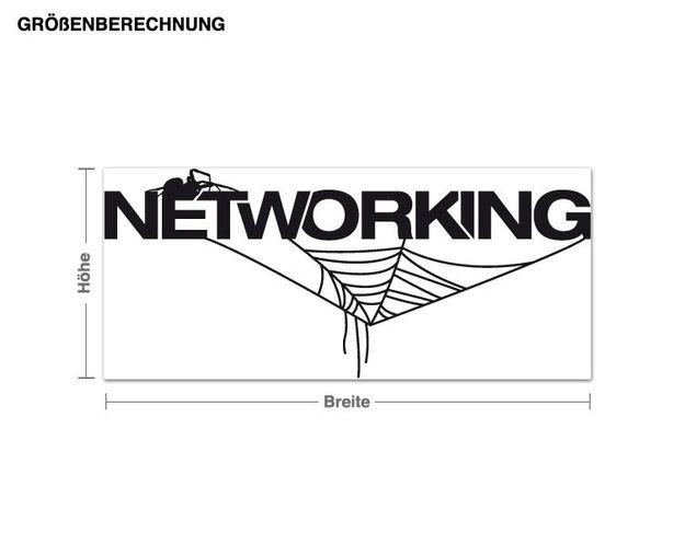 Wandtattoo Networking