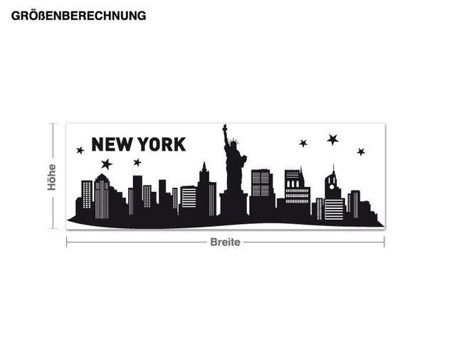 Wandtattoo New York City Skyline