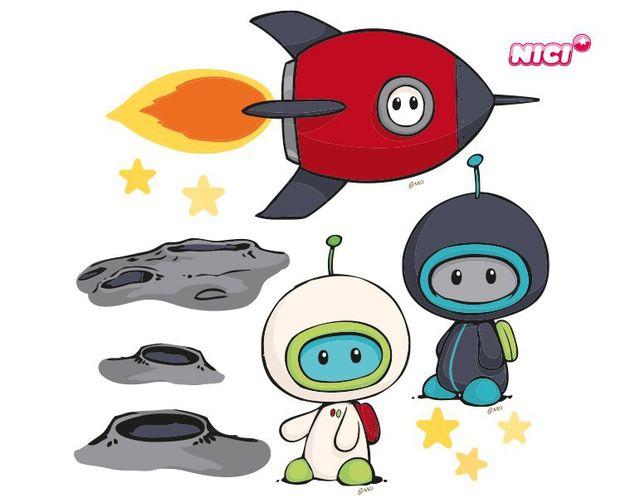 Wandtattoo Commanders Weltraumset