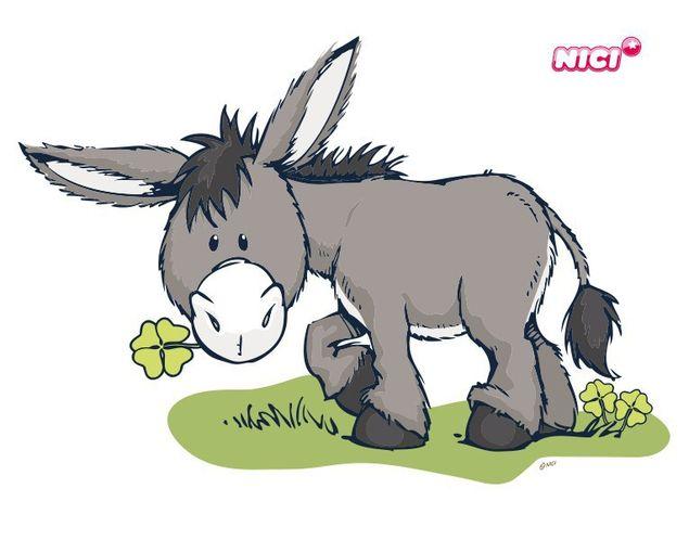 Wandtattoo Donkey mit Klee