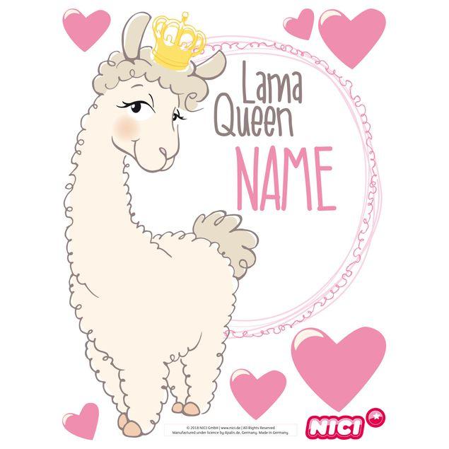 Wandtattoo Nici Lama Queen Wunschtext
