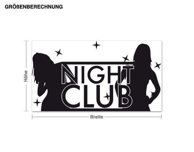 Wandtattoo Night Club