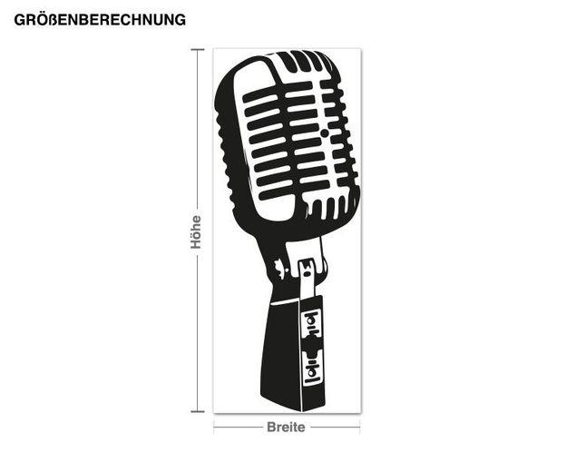 Wandtattoo Old School Mikrofon