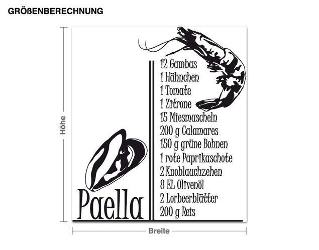Wandtattoo Paella