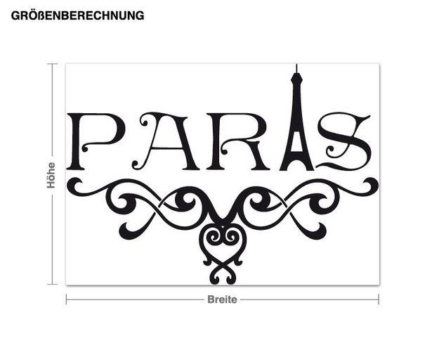 Wandtattoo Paris ornamental