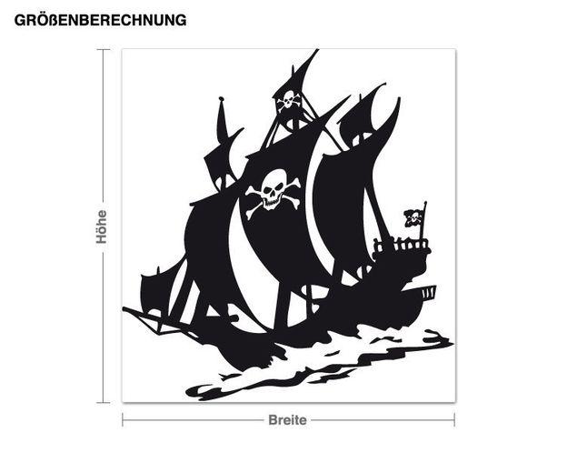 Wandtattoo Piraten auf See