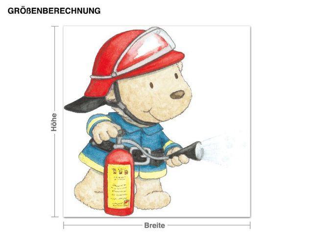 Wandtattoo Pitzelpatz als Feuerwehrmann